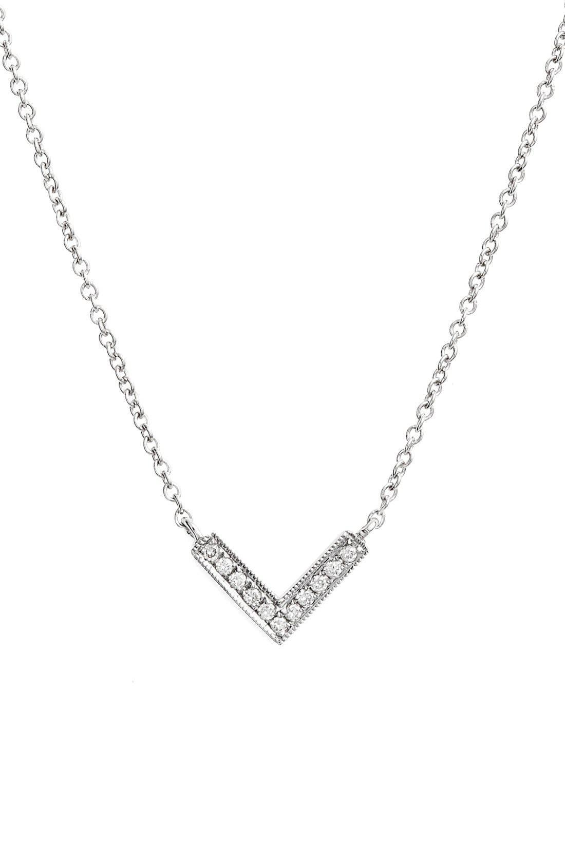 Dana Rebecca Designs 'Sylvie Rose' Diamond V Pendant Necklace