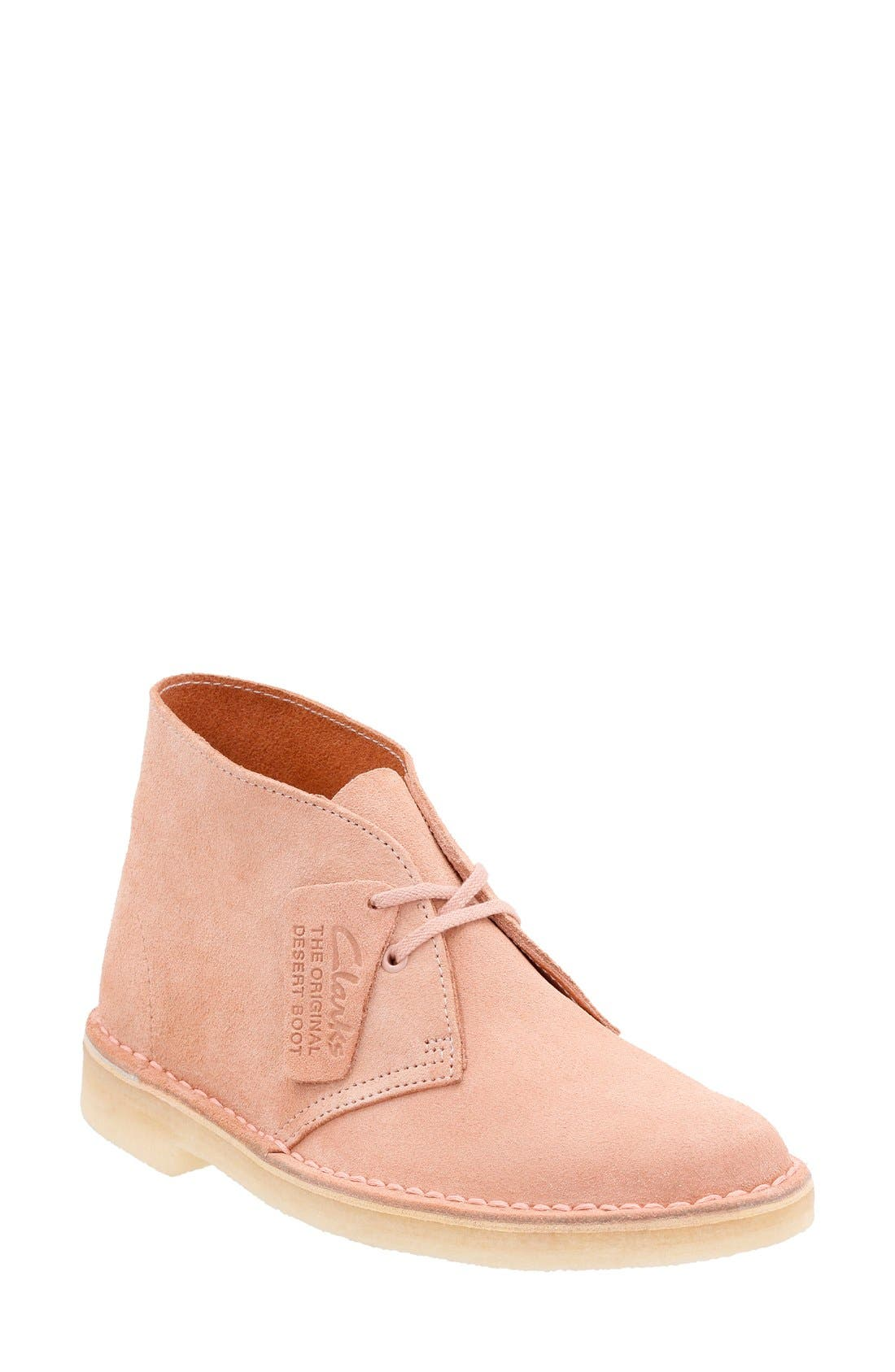 'Desert' ChukkaBoot,                             Main thumbnail 1, color,                             Dusty Pink Suede
