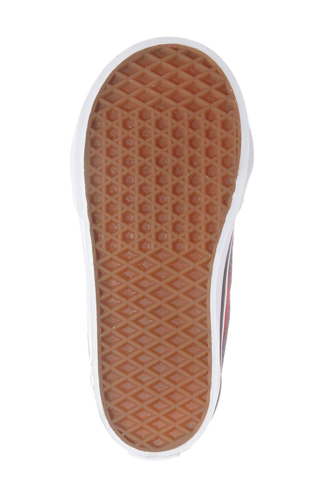 'Sk8-Hi' Zip Sneaker,                             Alternate thumbnail 4, color,                             Racing Red/True White