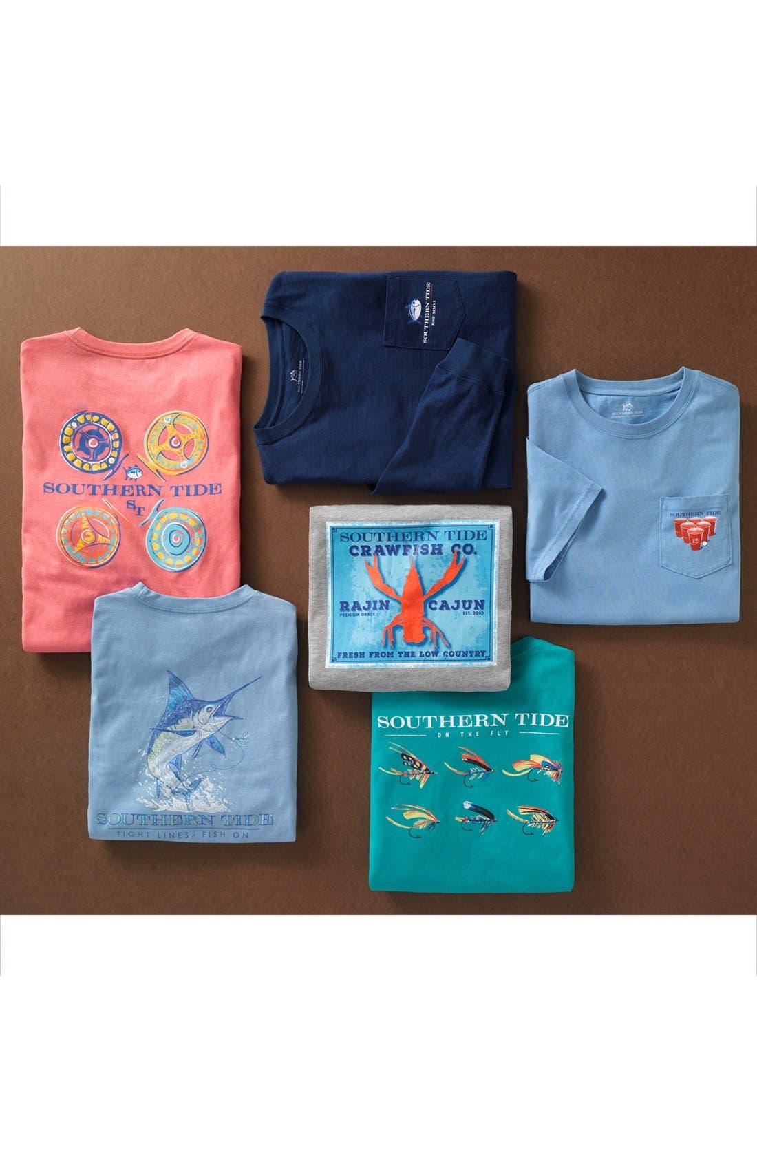 Alternate Image 6  - Southern Tide 'Channel Marker' Graphic Pocket Long Sleeve T-Shirt