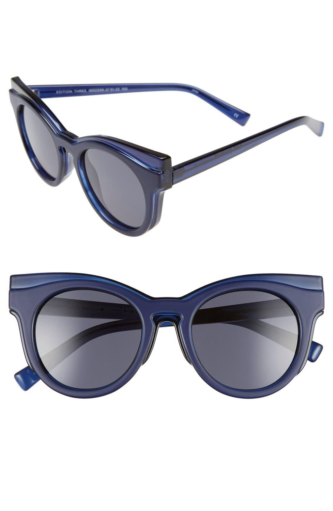 Main Image - Le Specs 'Edition Three' 51mm Cat Eye Sunglasses