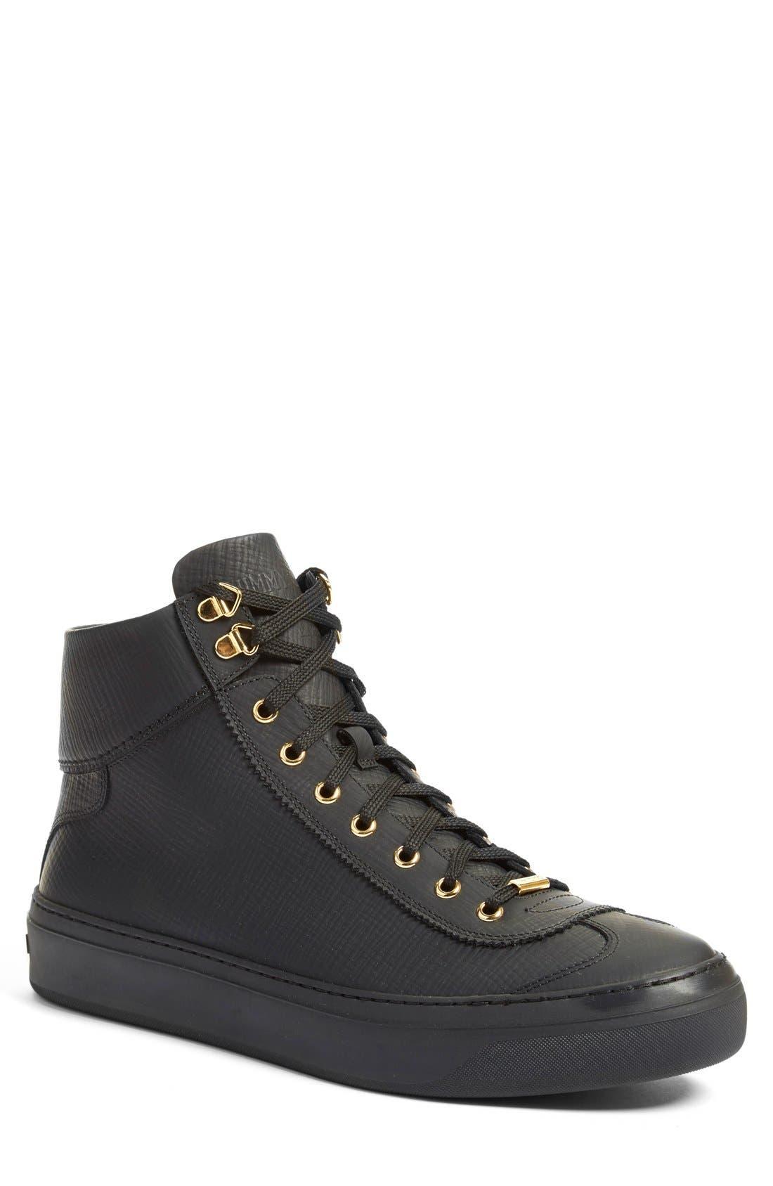 JIMMY CHOO Argyle High Top Sneaker