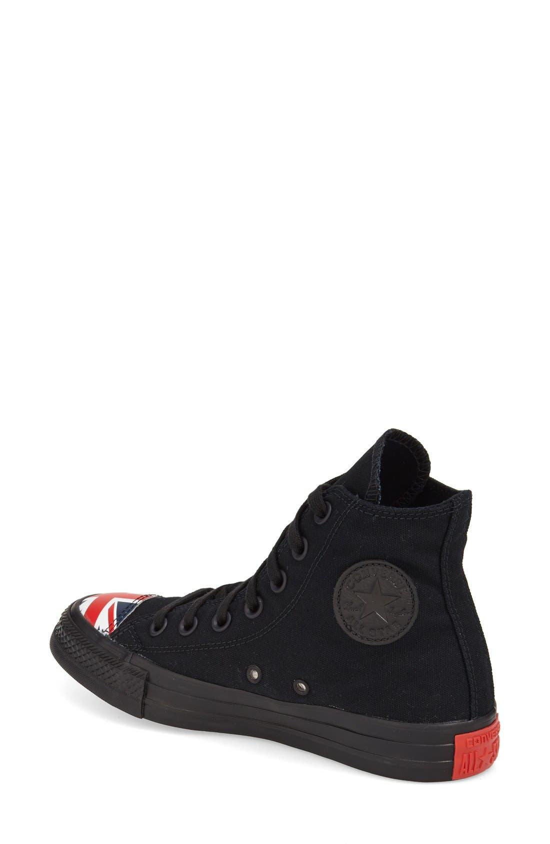 Alternate Image 2  - Converse Chuck Taylor® All Star® Flag Cap Toe High Top Sneaker (Women)