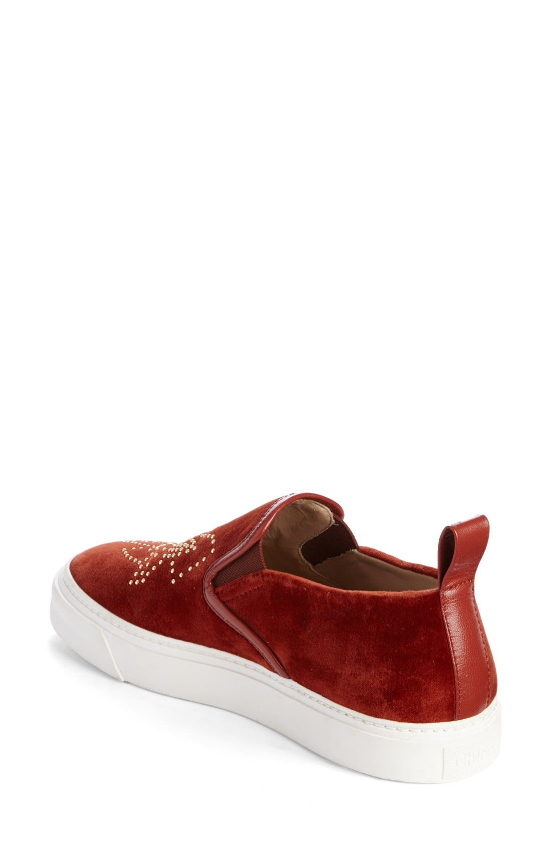 Alternate Image 2  - Chloé 'Ivy' Studded Slip-On Sneaker (Women)