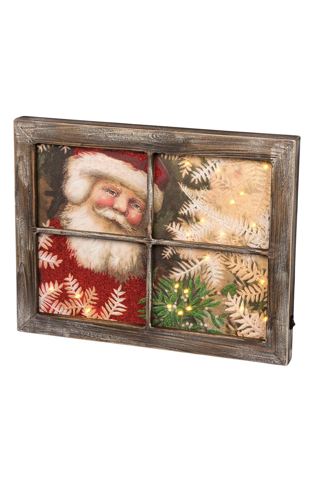 Primitives by Kathy 'Santa Window' LED Wooden Sign