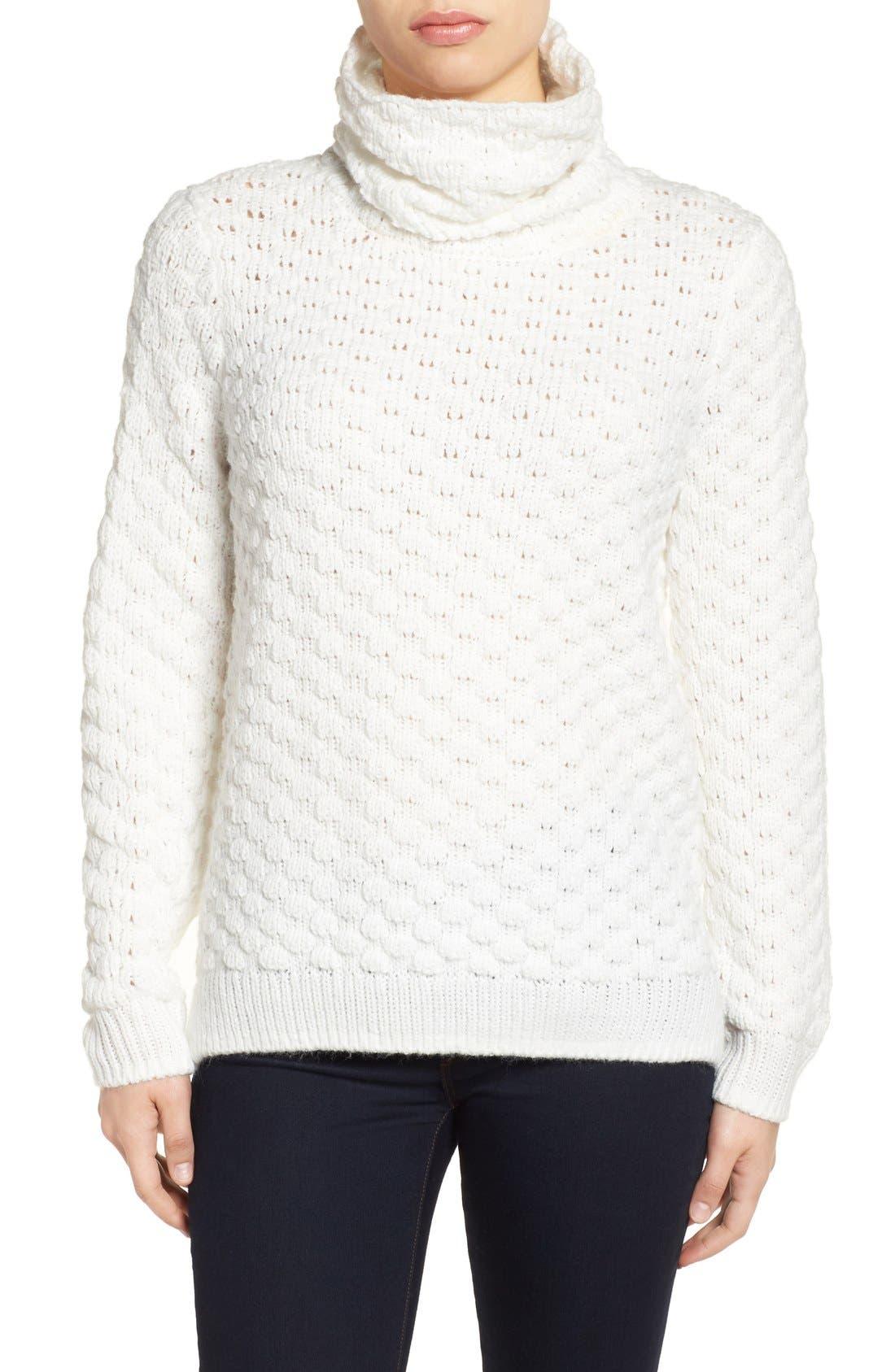 Halogen® Bubble Stitch Sweater (Regular & Petite)