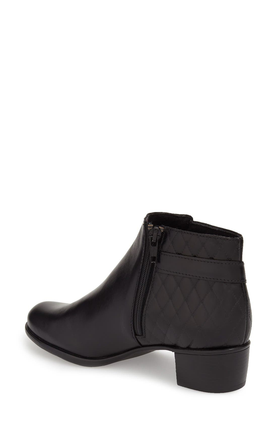 'Jolynn' Bootie,                             Alternate thumbnail 2, color,                             Black Quilted Leather