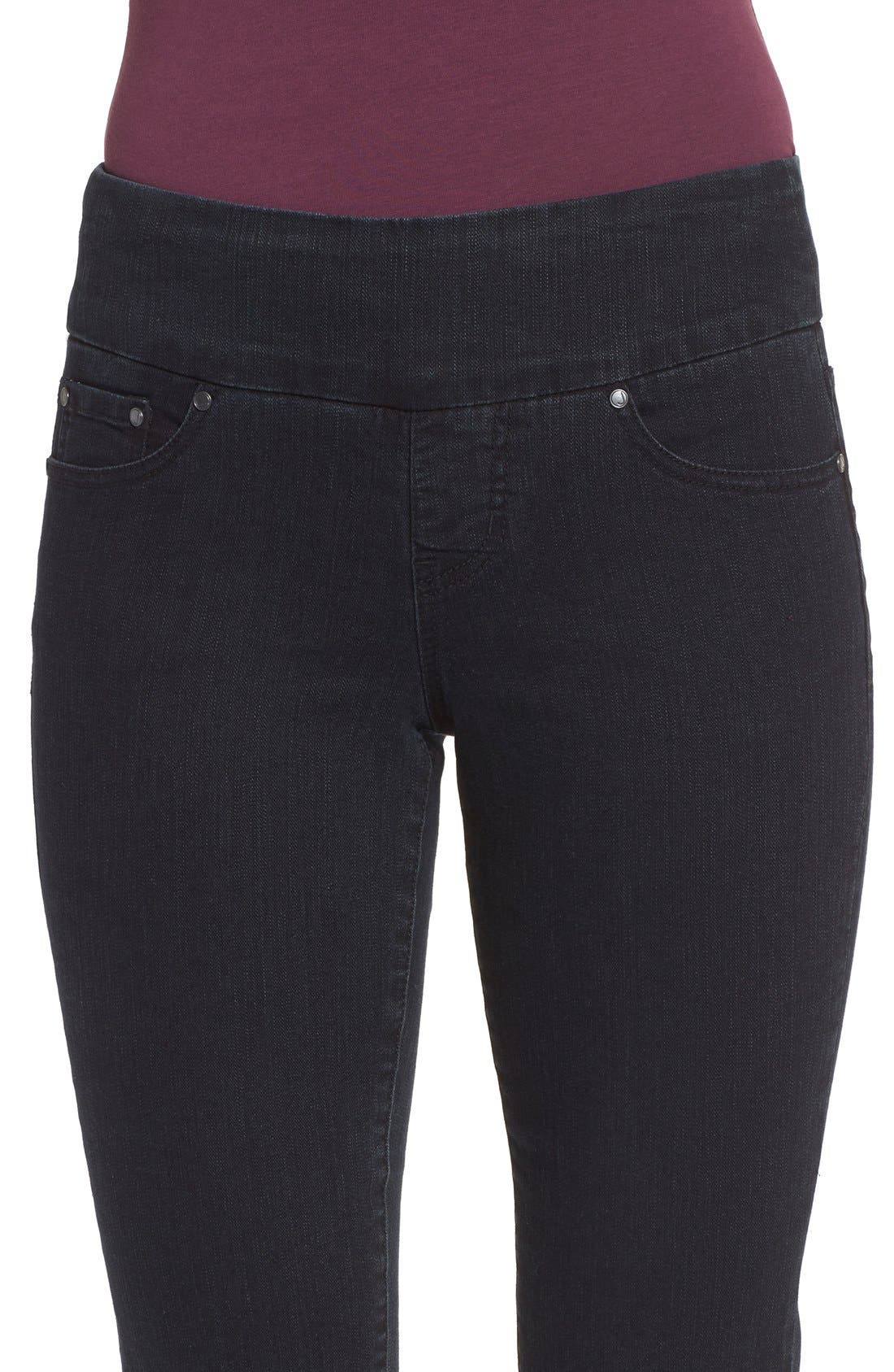 Alternate Image 4  - Jag Jeans 'Peri' Straight Leg Pull-On Jeans (Black Void) (Regular & Petite) (Online Only)