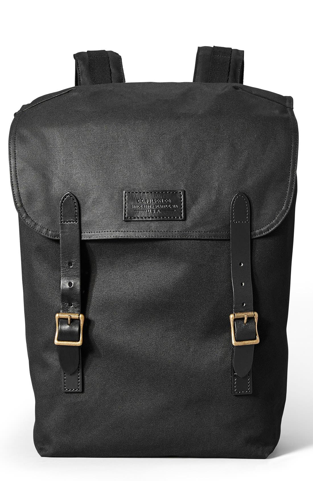 'Ranger' Canvas Backpack,                             Main thumbnail 1, color,                             Black