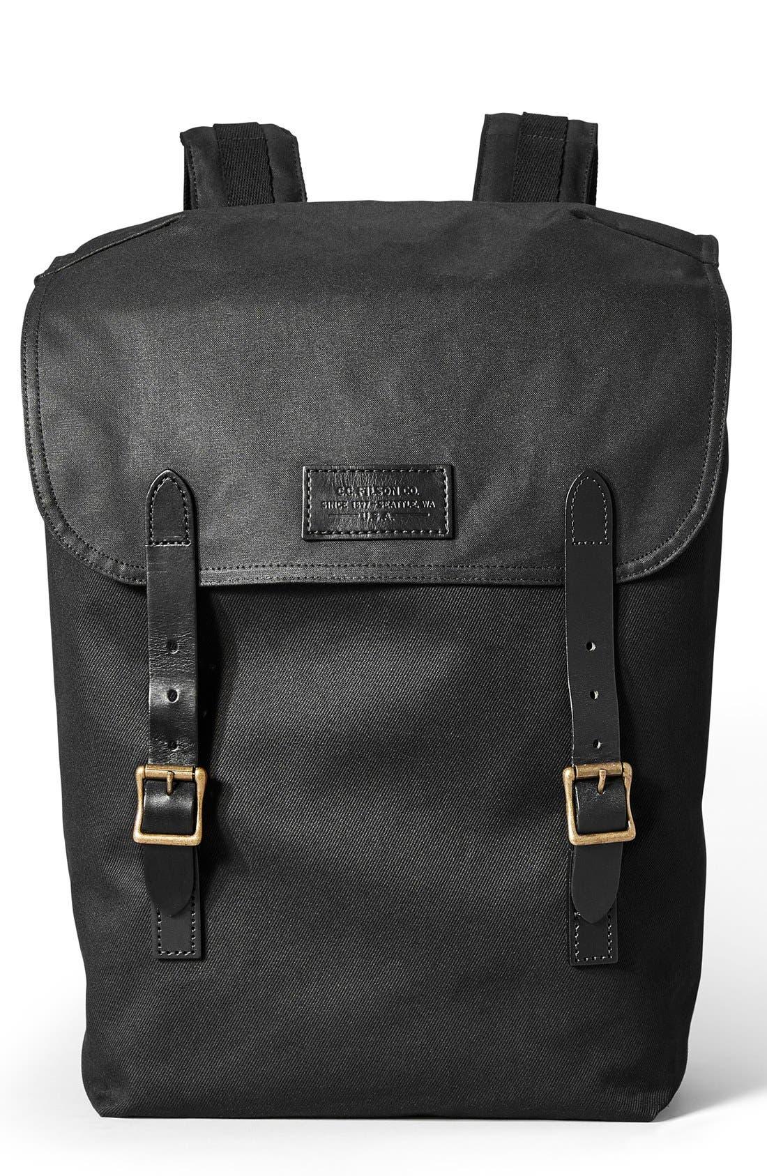 'Ranger' Canvas Backpack,                         Main,                         color, Black