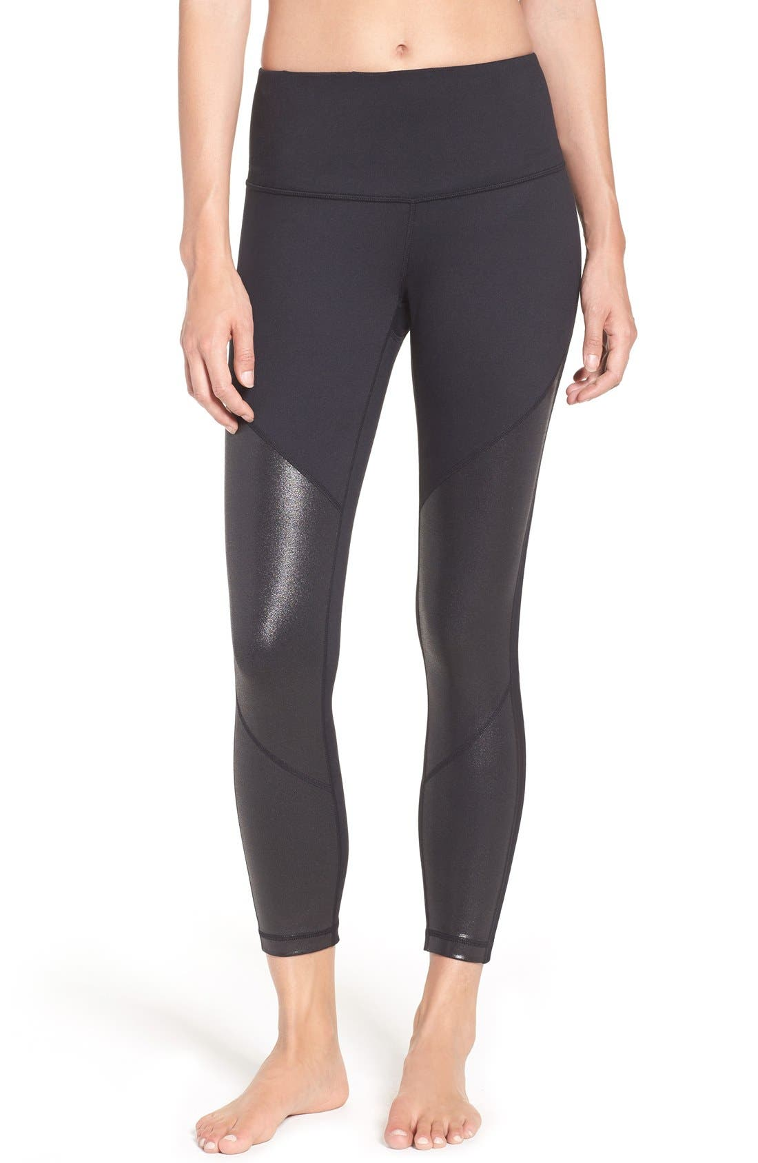 Alternate Image 1 Selected - Zella 'Mindful' High Waist Midi Crop Leggings