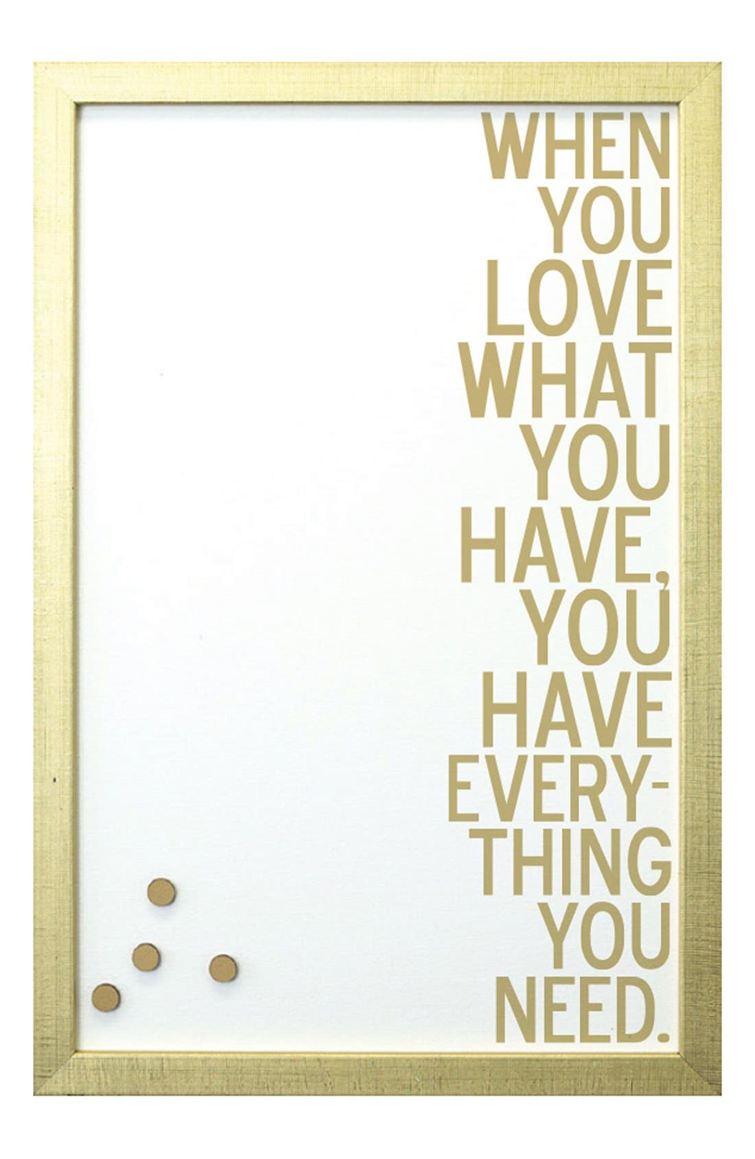 Petal Lane 'When You Love' Magnet Board,                         Main,                         color, Gold