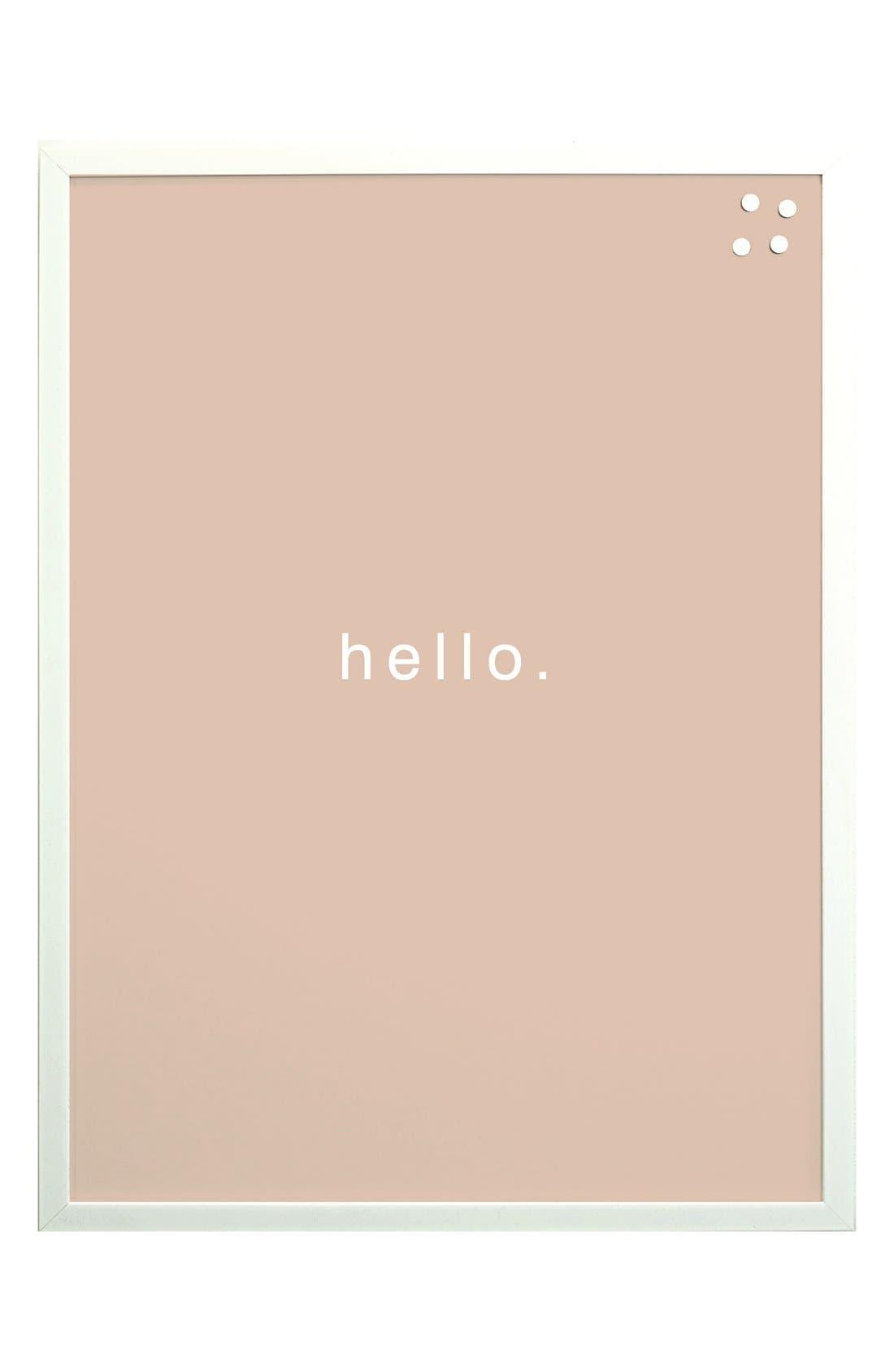 Petal Lane 'Hello' Magnet Board,                             Main thumbnail 1, color,                             Pink