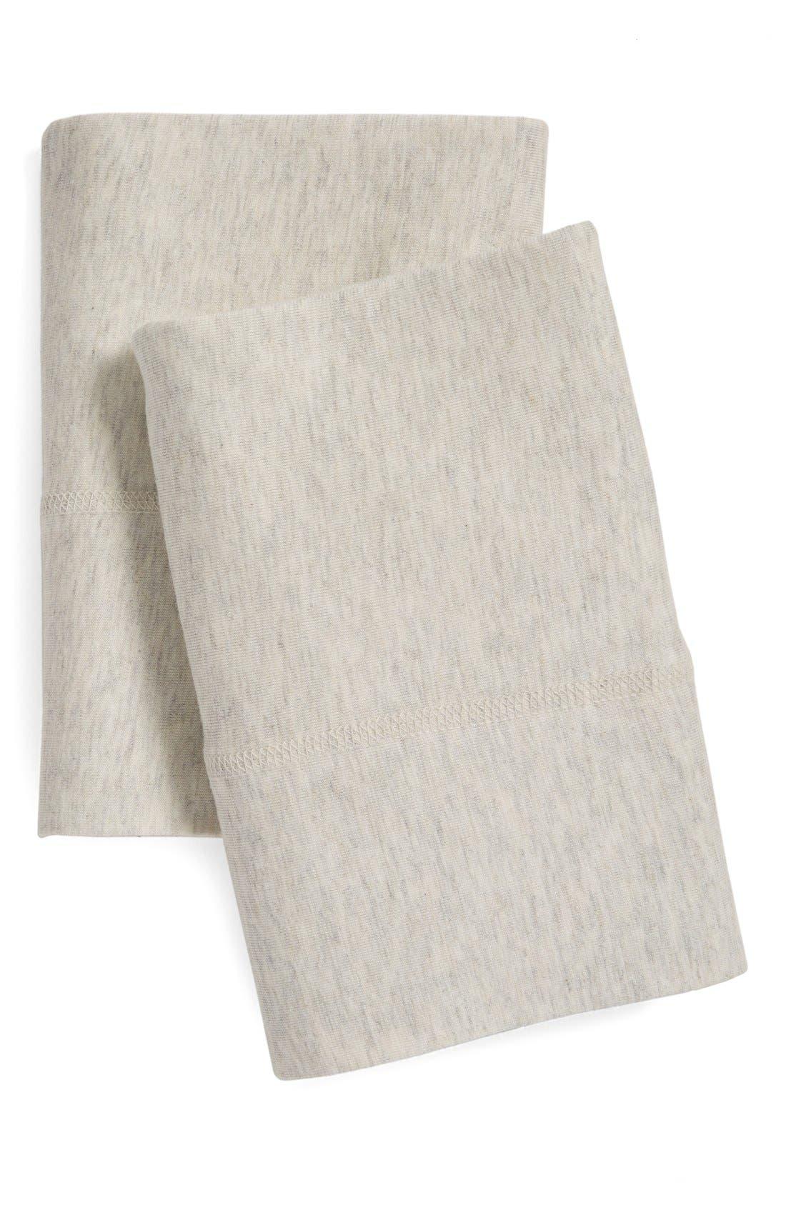 Modern Cotton Collection Cotton & Modal Pillowcases,                             Main thumbnail 1, color,                             Oatmeal