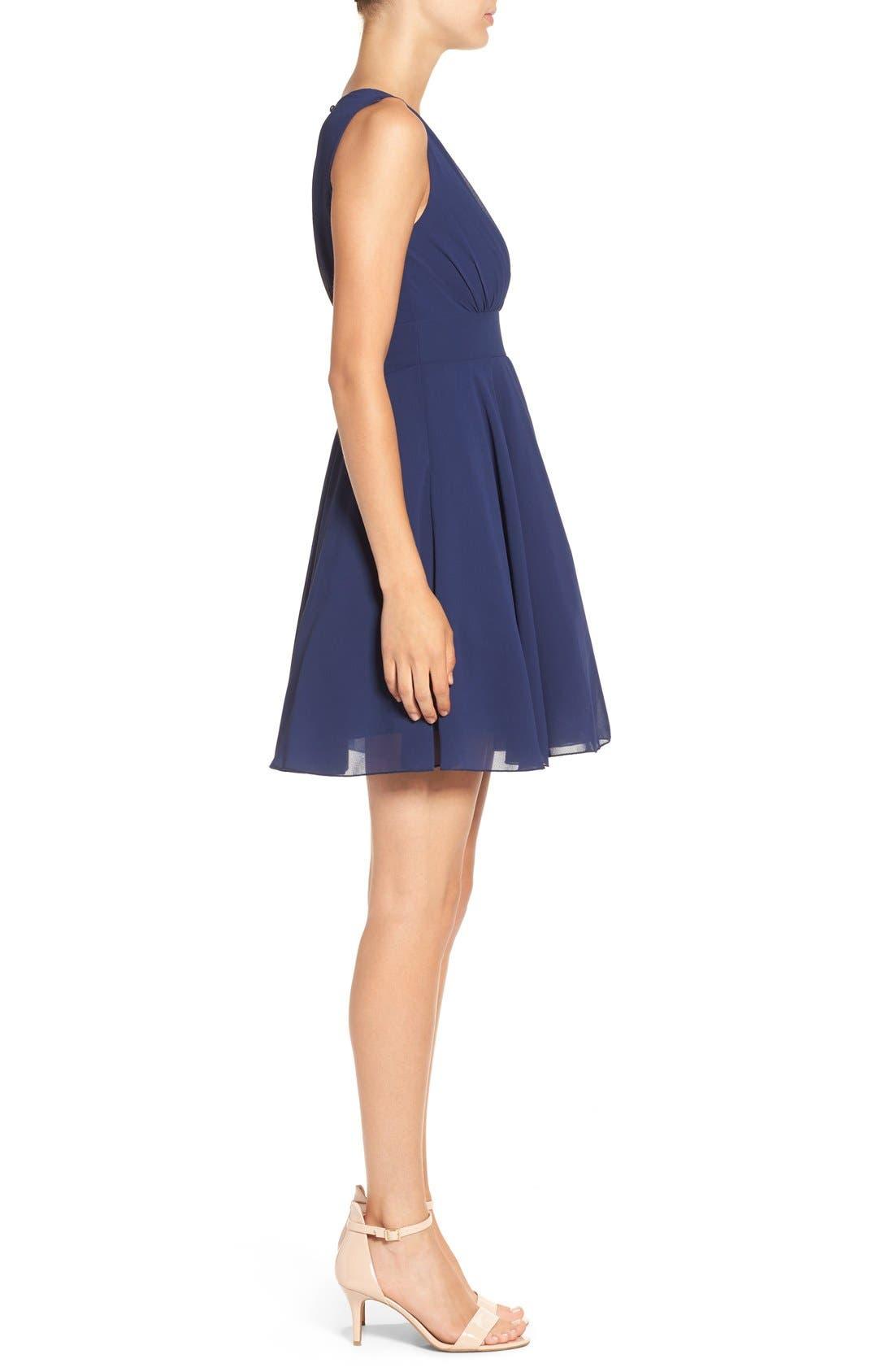Alternate Image 3  - TFNC V-Neck Fit & Flare Dress