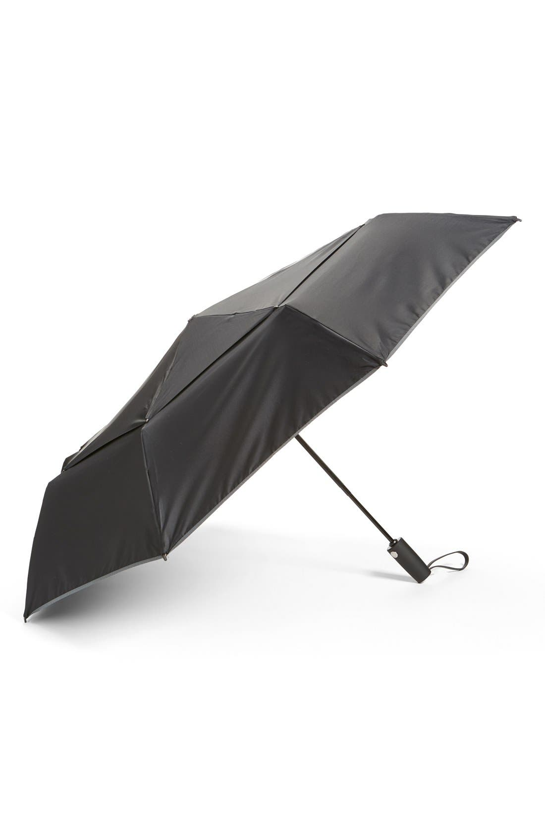 Large Auto Close Umbrella,                             Main thumbnail 1, color,                             Black