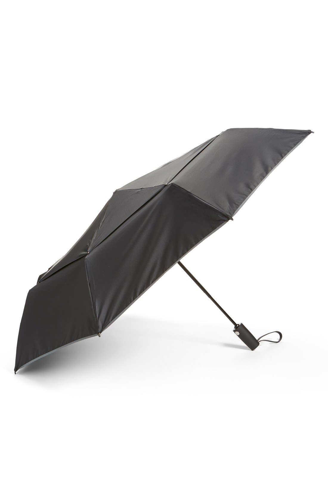 Large Auto Close Umbrella,                         Main,                         color, Black