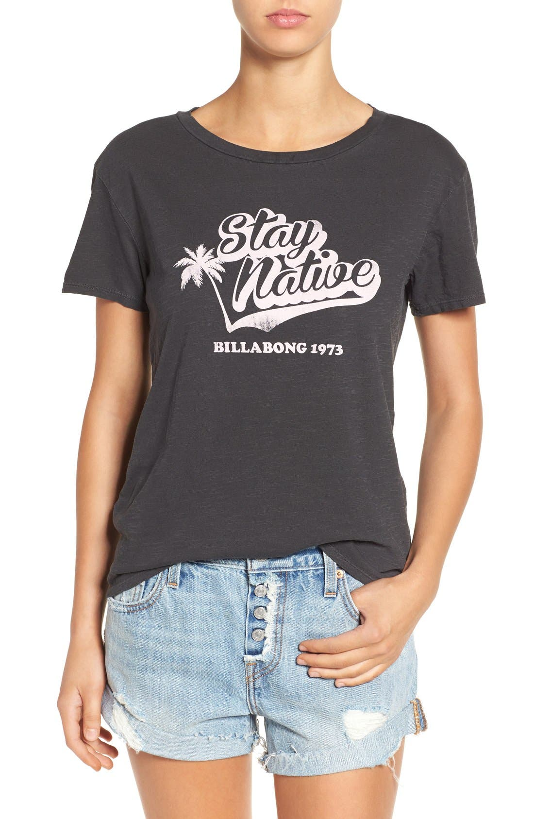 Alternate Image 1 Selected - Billabong 'Stay Native' Graphic Tee