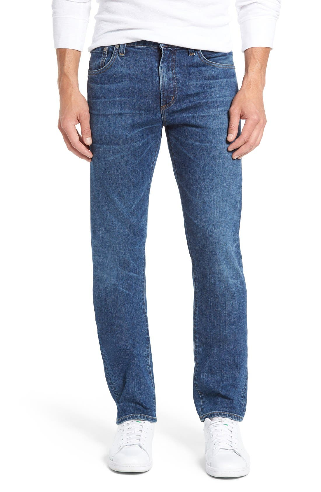 'Core' Slim Fit Jeans,                             Main thumbnail 1, color,                             Brunswick