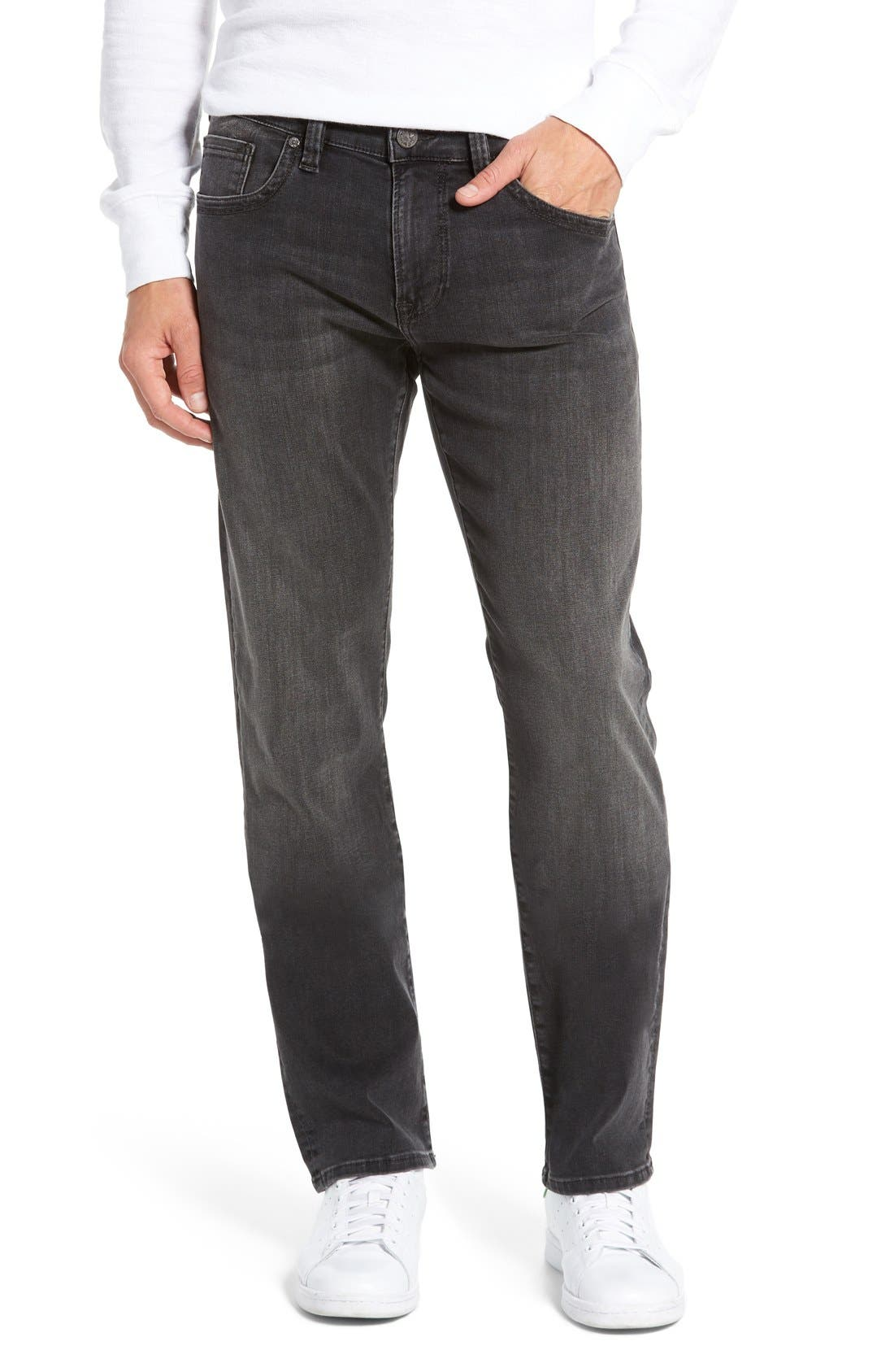 34 Heritage 'Courage' Straight Leg Jeans (Coal Soft)