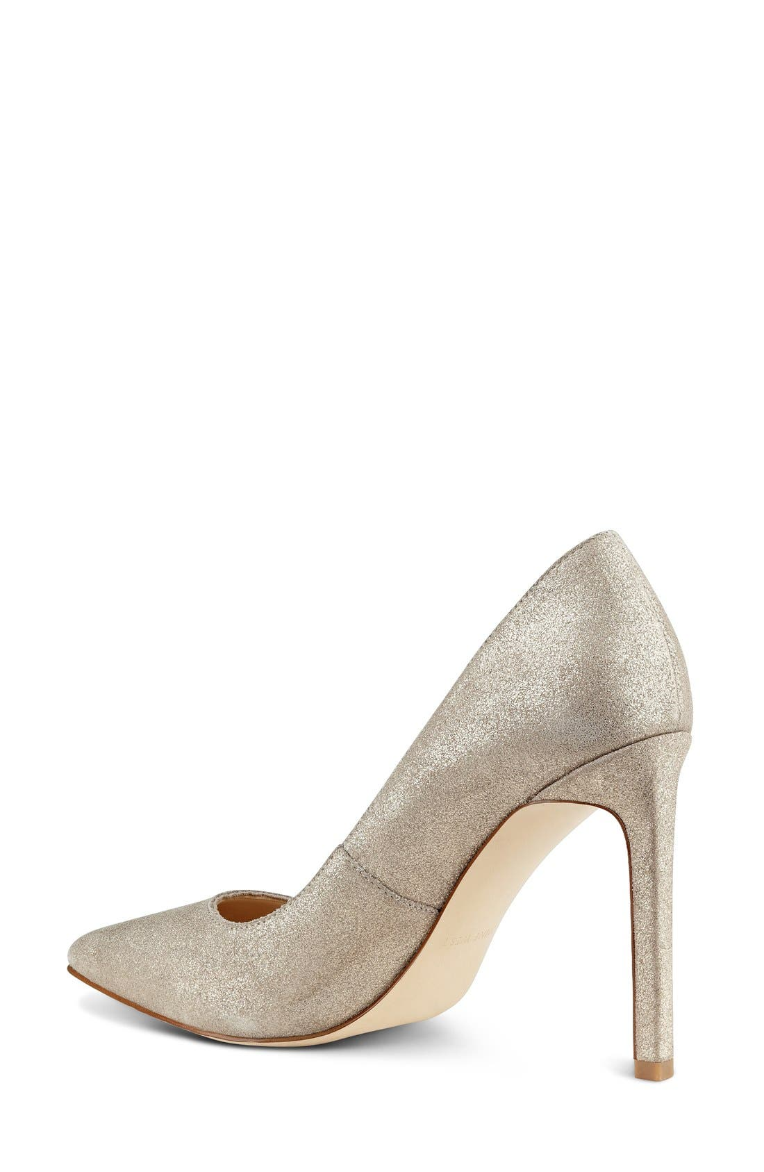 'Tatiana' Pump,                             Alternate thumbnail 2, color,                             Natural/ Gold Metallic Suede
