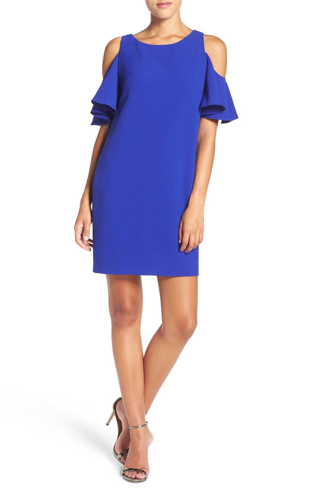 Alternate Image 1 Selected - Chelsea28 'Peek-A-Boo' Cold Shoulder Shift Dress