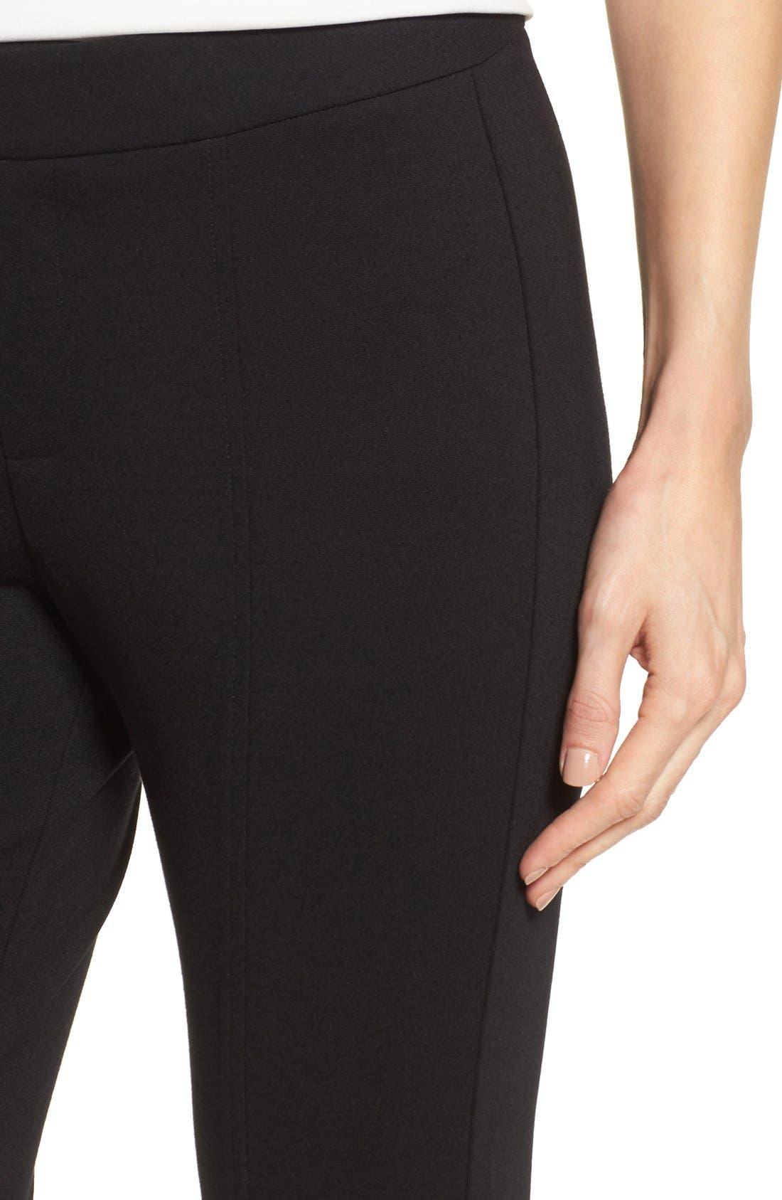 Betty Stretch Ankle Pants,                             Alternate thumbnail 4, color,                             Black