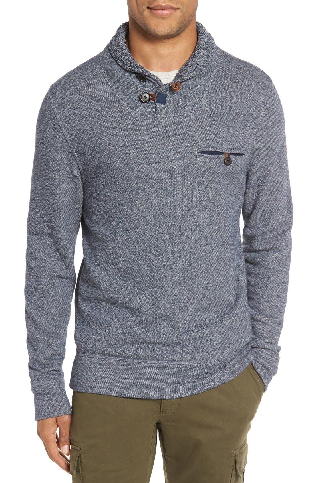 Alternate Image 1 Selected - Billy Reid 'Shiloh' Shawl Collar Sweatshirt
