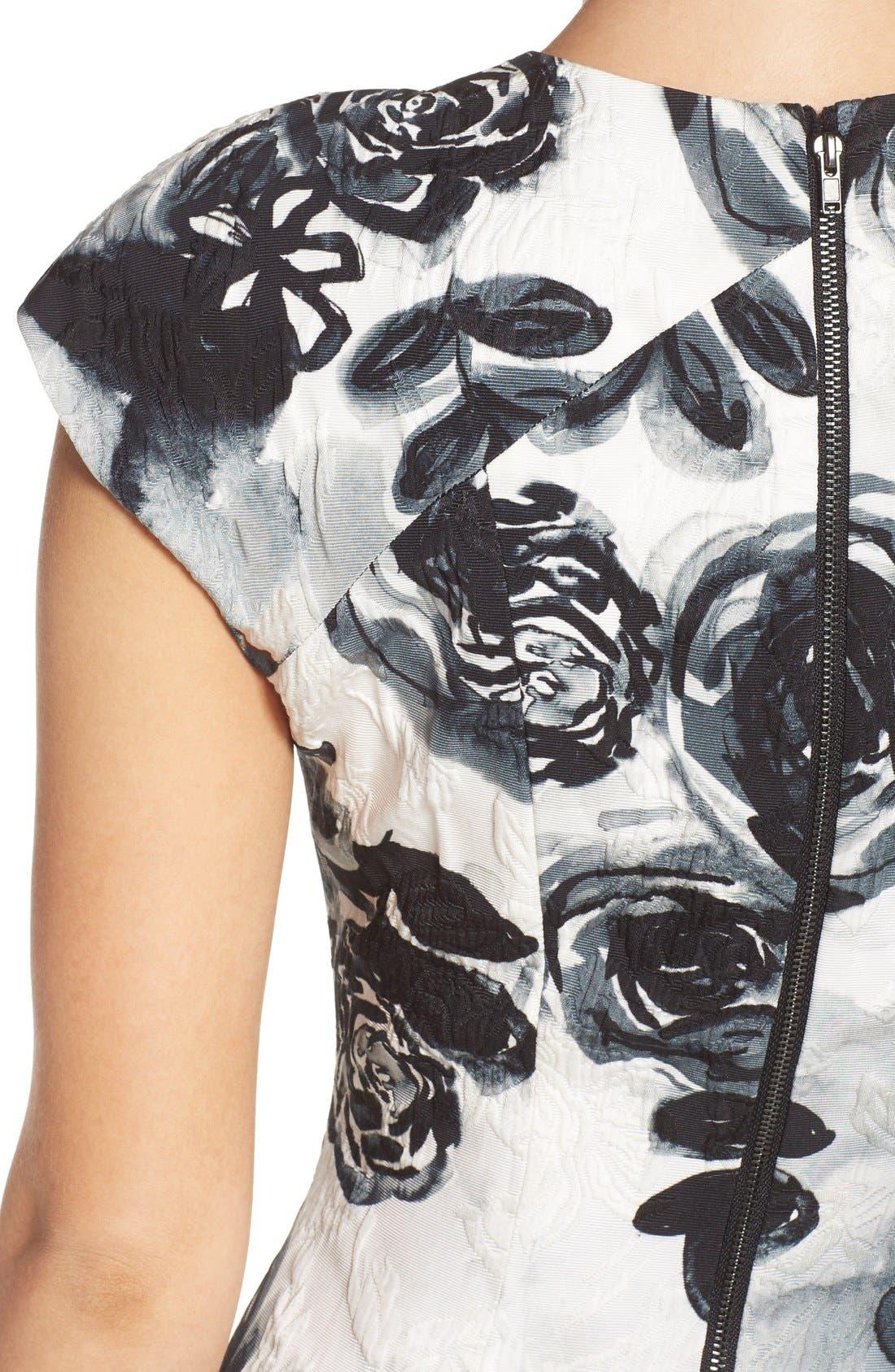 Alternate Image 5  - Sachin & Babi Noir 'Desiree' Floral Jacquard Fit & Flare Dress