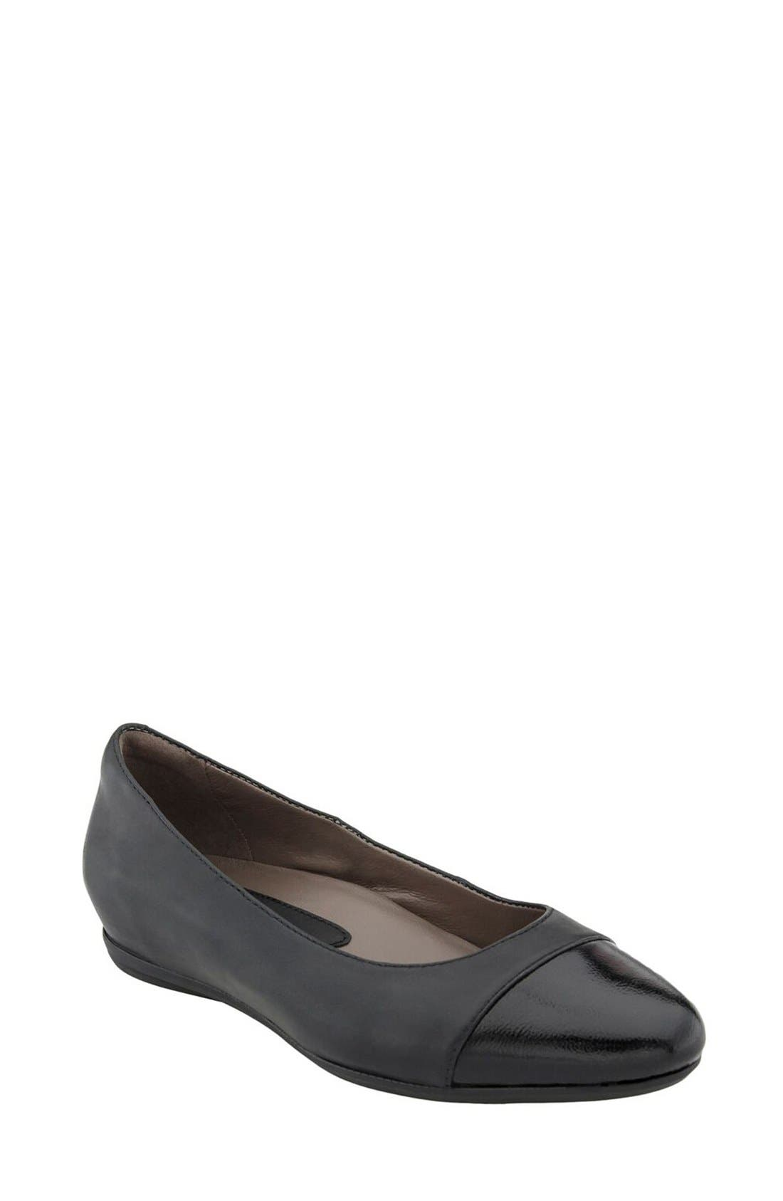 Alternate Image 1 Selected - Earthies® 'Hanover' Cap Toe Flat (Women)