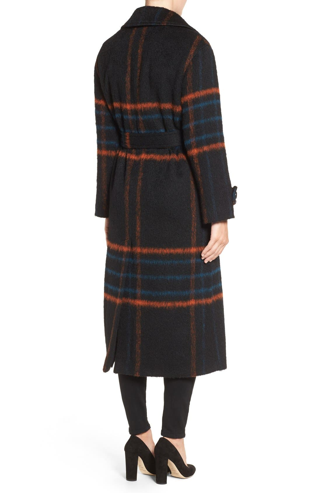 Alternate Image 2  - Trina Turk 'Margaret' Check Wrap Coat