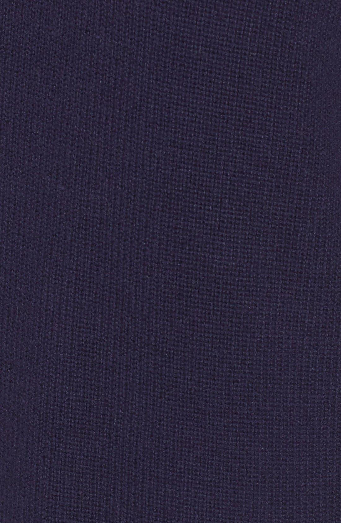 Mock Neck Knit Sweater Dress,                             Alternate thumbnail 5, color,                             Navy Evening