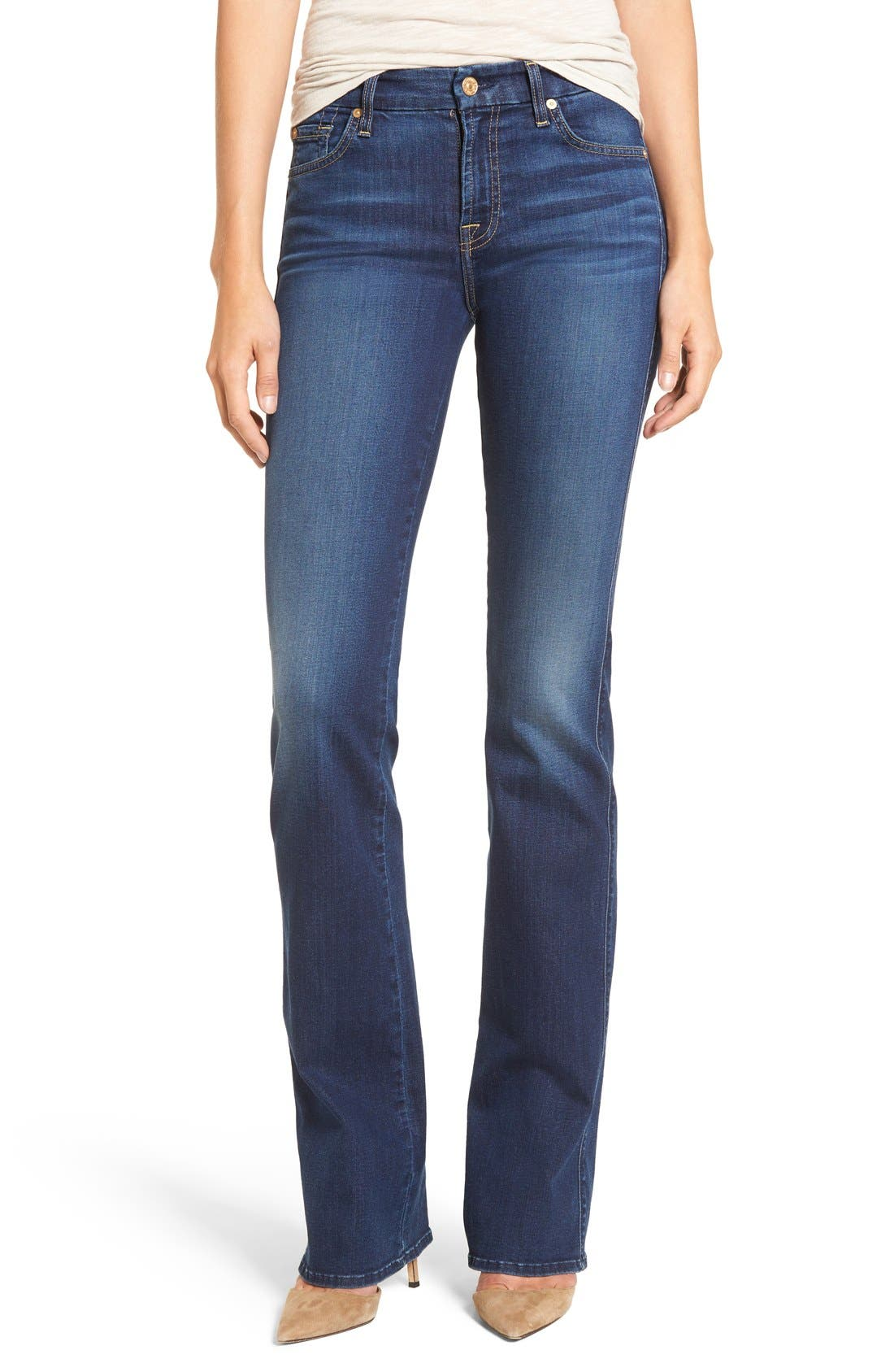 b(air) - Kimmie Bootcut Jeans,                             Main thumbnail 1, color,                             Duchess