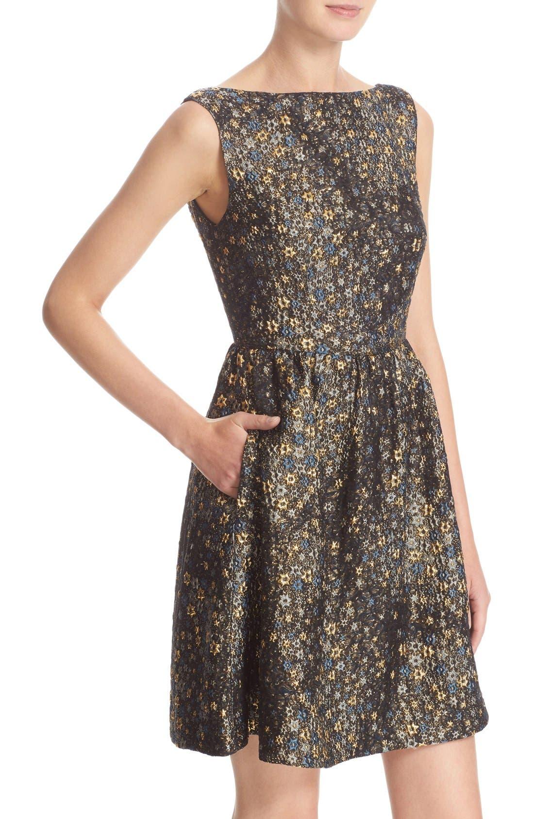 Alternate Image 6  - Erdem Star Jacquard Fit & Flare Dress