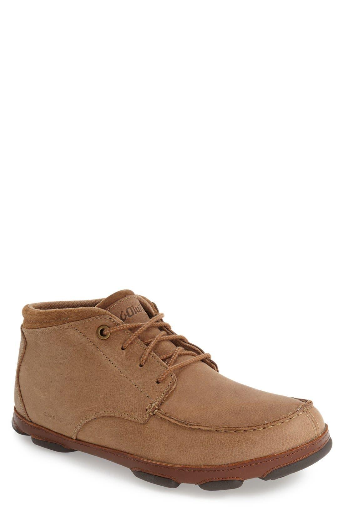 'Hamakua' Moc Toe Boot,                         Main,                         color, Ecru/ Toffee Leather
