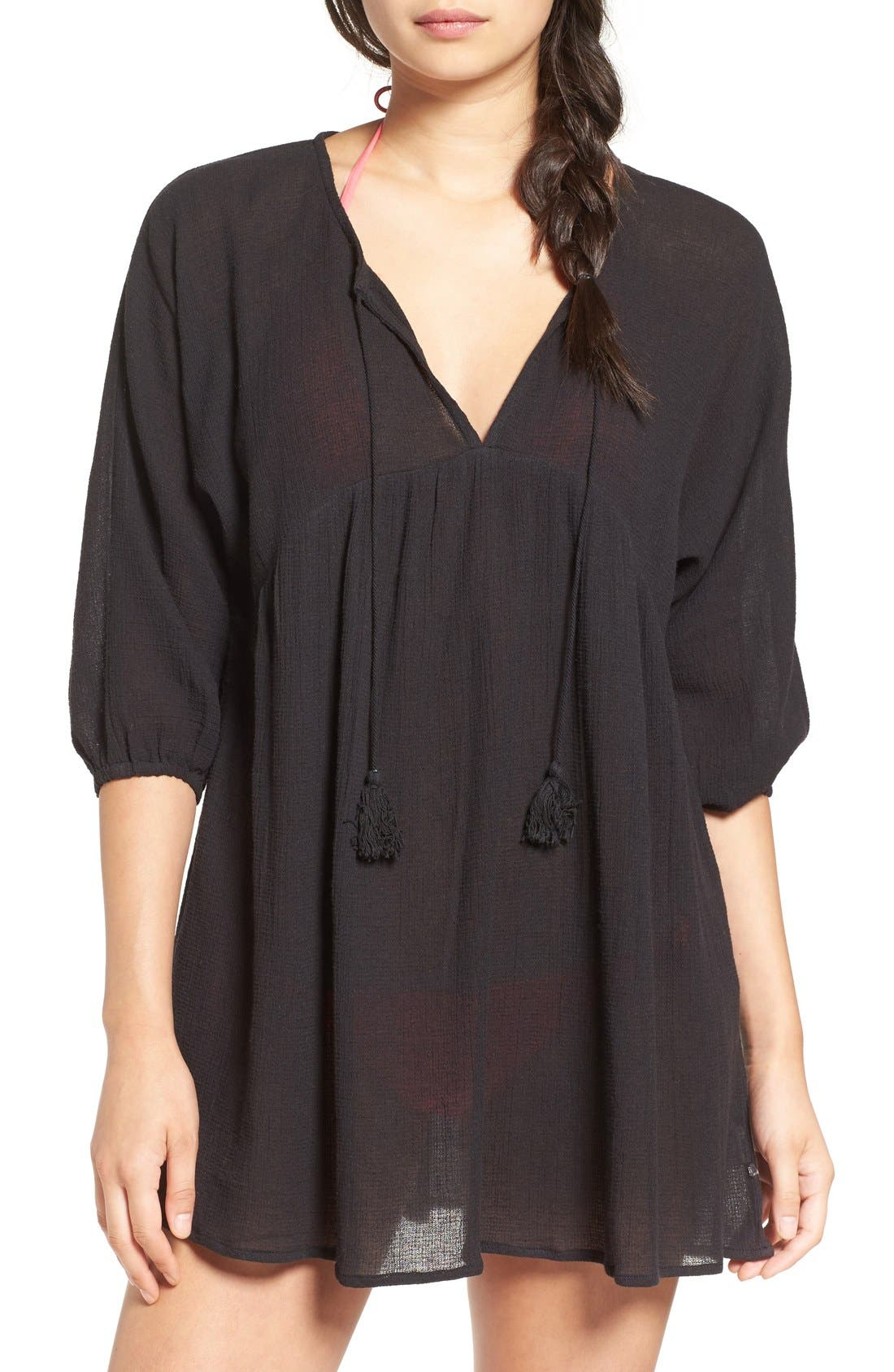 Alternate Image 1 Selected - Billabong 'Wild Shores' Woven Cover-Up Tunic