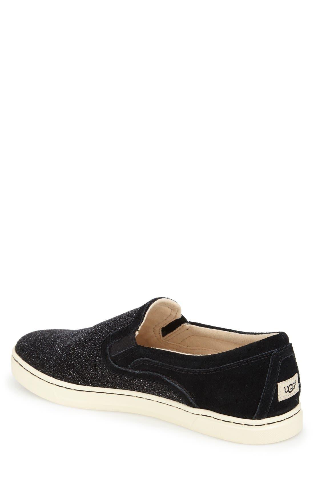 Fierce Slip-On Sneaker,                             Alternate thumbnail 2, color,                             Black Fabric
