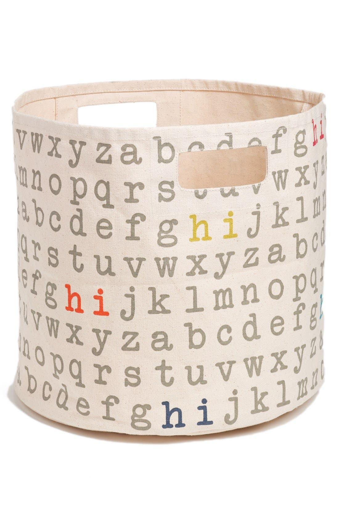 Alternate Image 1 Selected - Petit Pehr 'Alphabet' Print Canvas Bin (Nordstrom Exclusive)