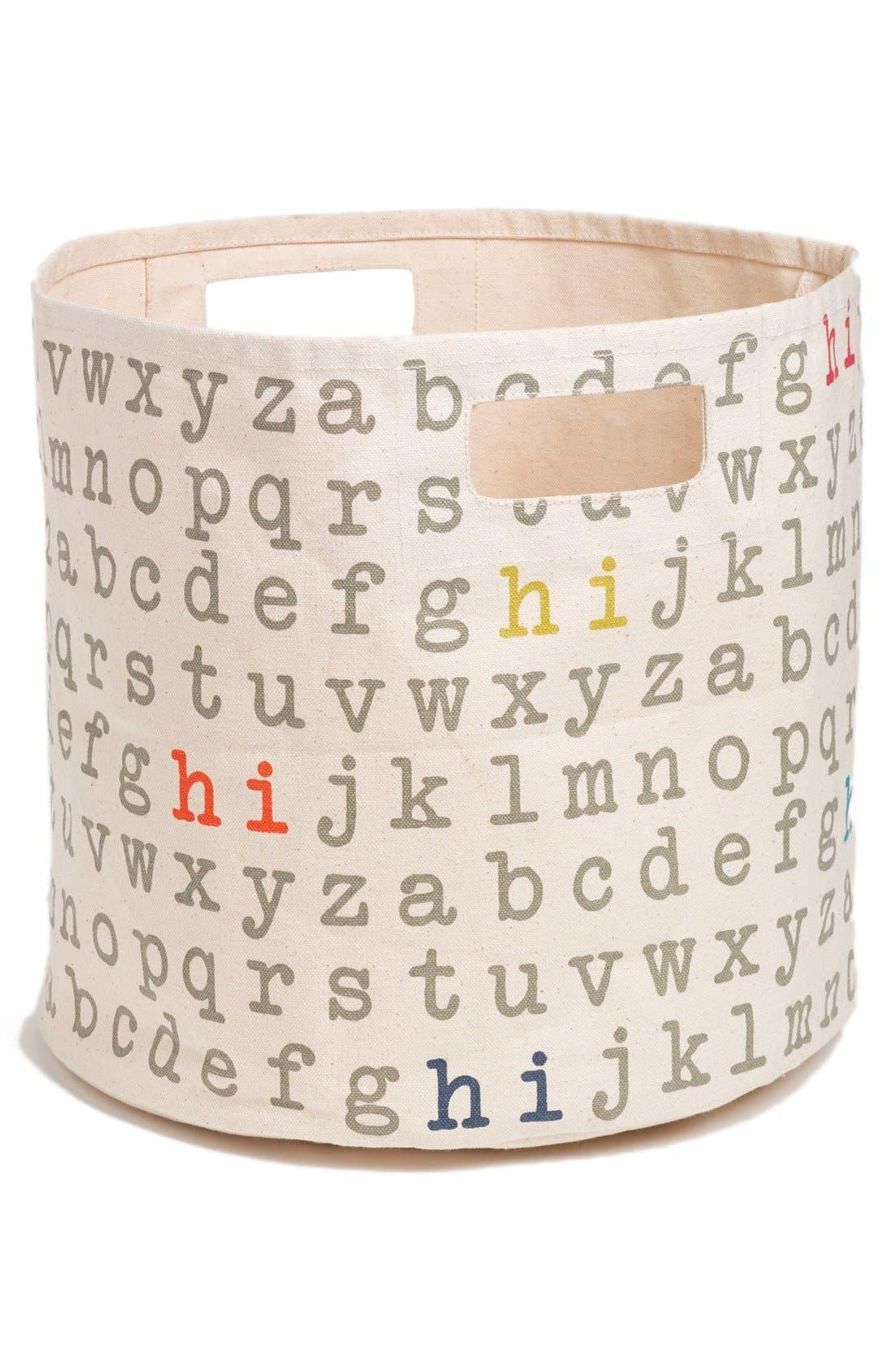'Alphabet' Print Canvas Bin,                         Main,                         color, Multi