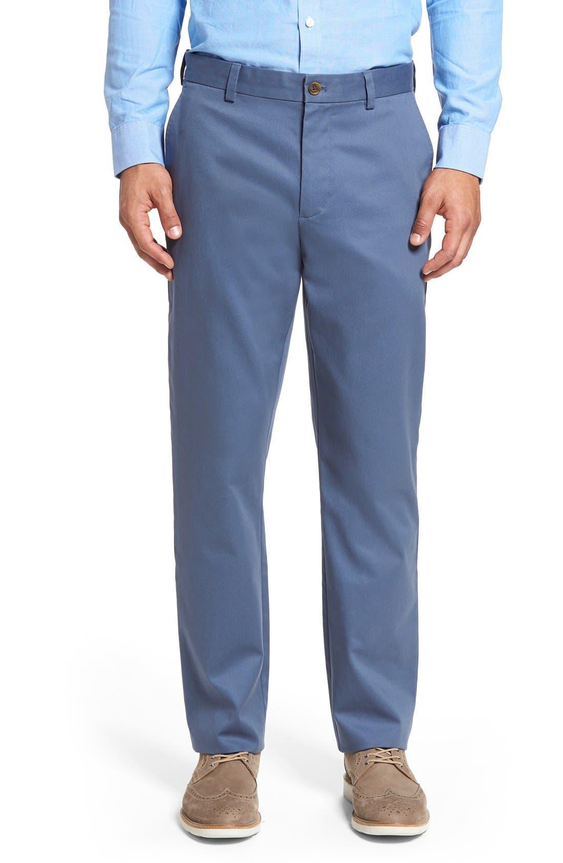 Alternate Image 1 Selected - Nordstrom Men's Shop Wrinkle Free Straight Leg Chinos