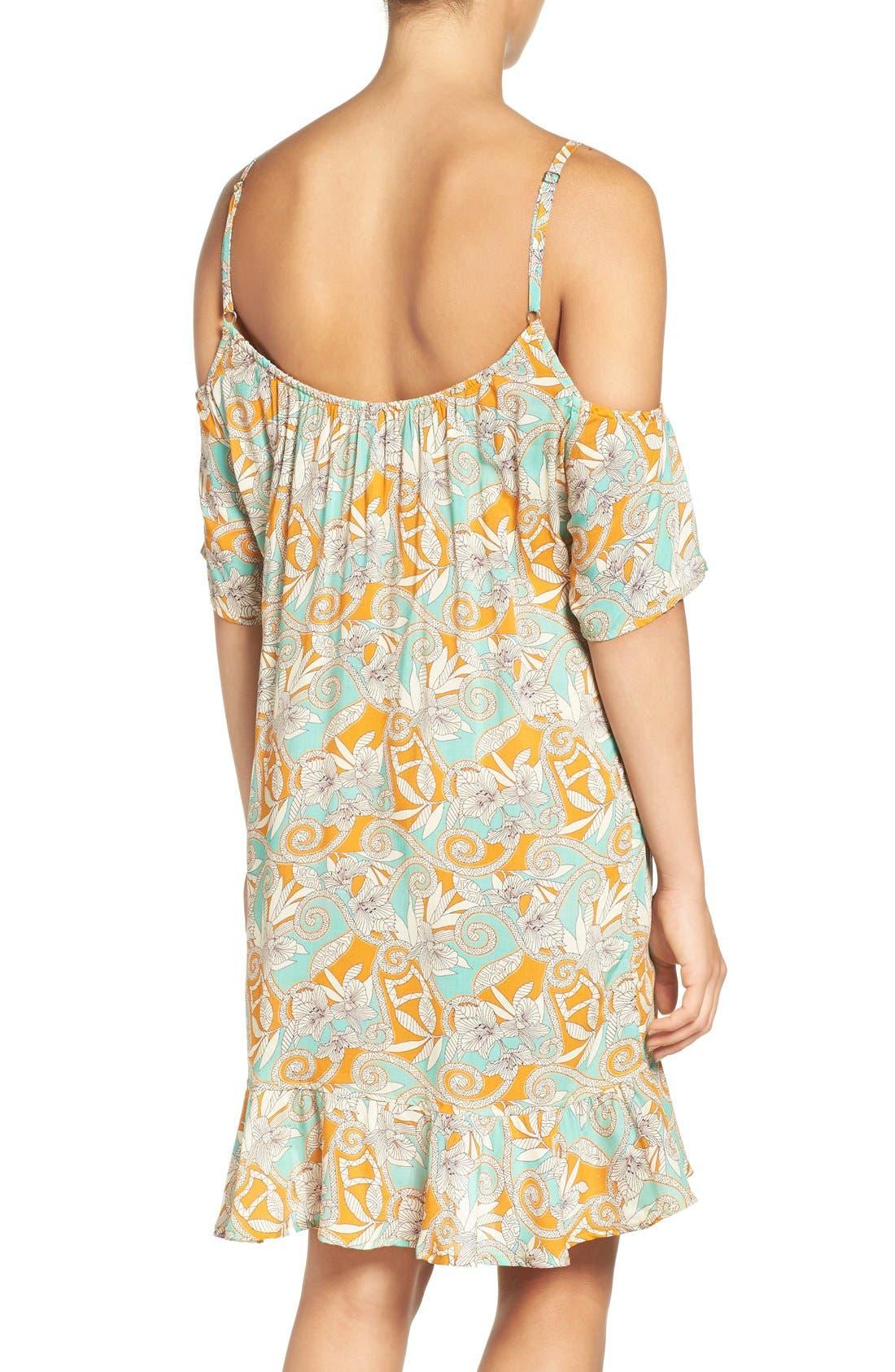 Alternate Image 2  - Maaji 'Botanic Sandy' Cold-Shoulder Cover-Up Dress