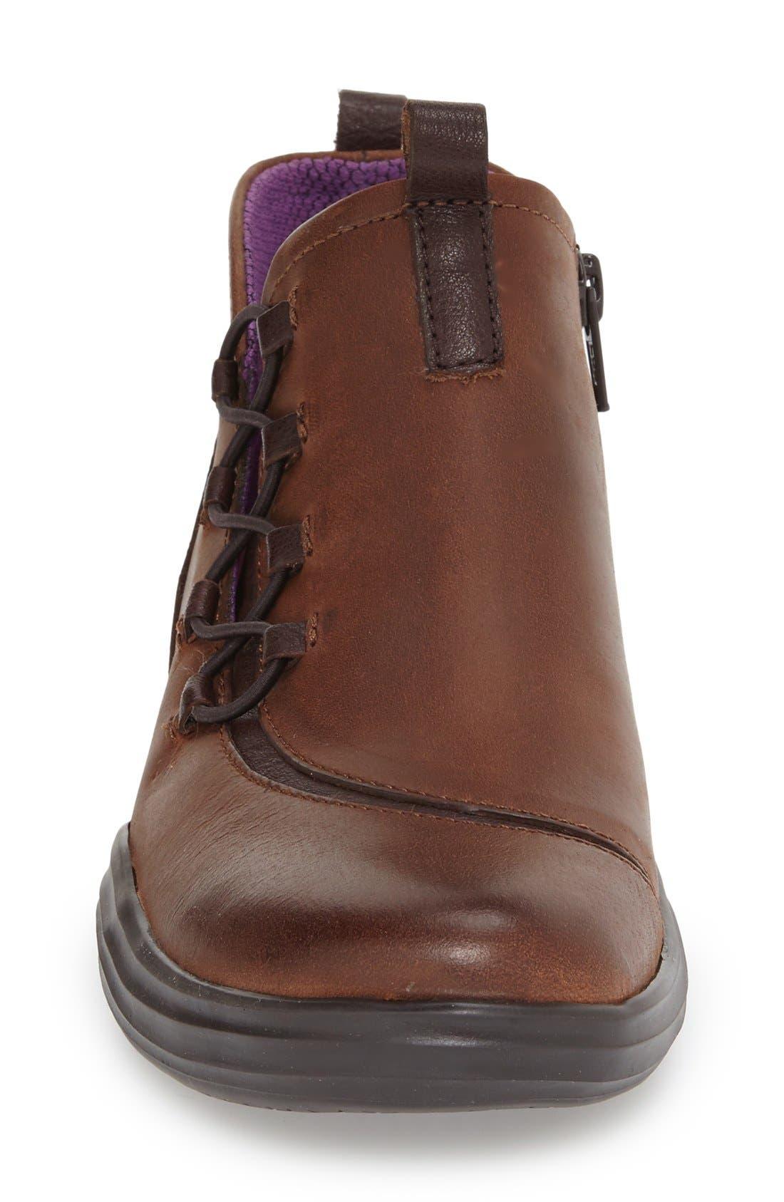 'Santiago' Bootie,                             Alternate thumbnail 3, color,                             Mahogany Oiled Nubuck Leather