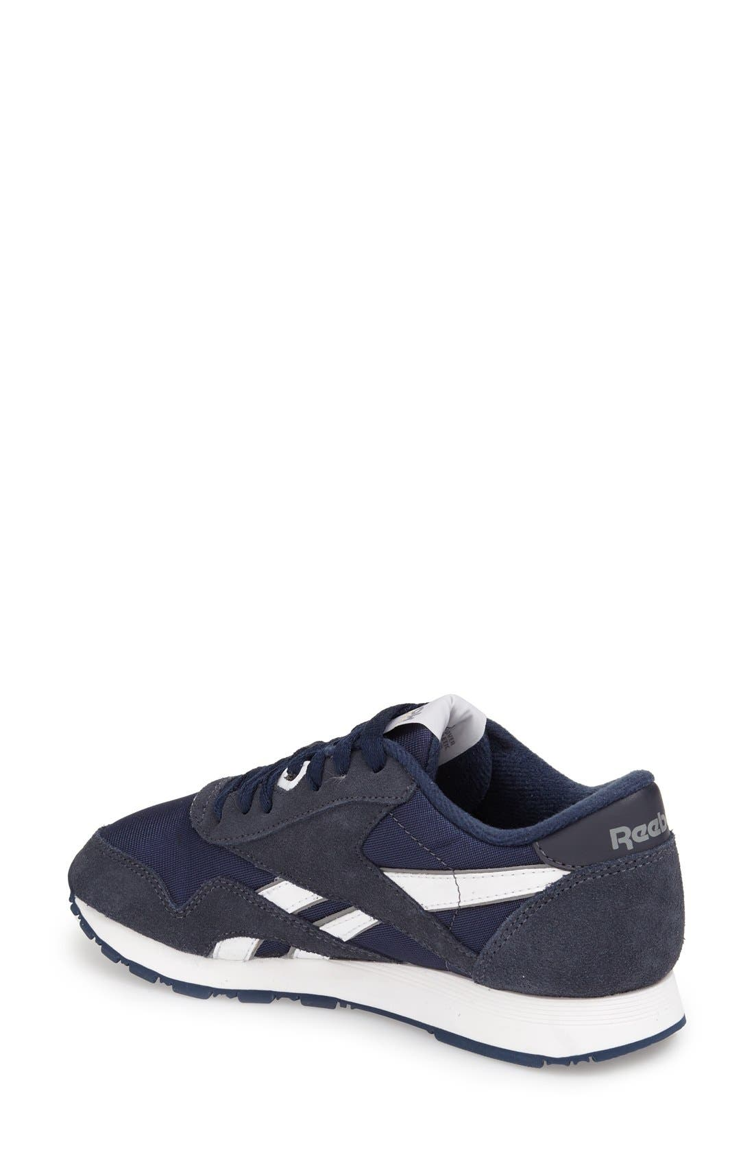 Classic Nylon Sneaker,                             Alternate thumbnail 2, color,                             Team Navy/ Platinum