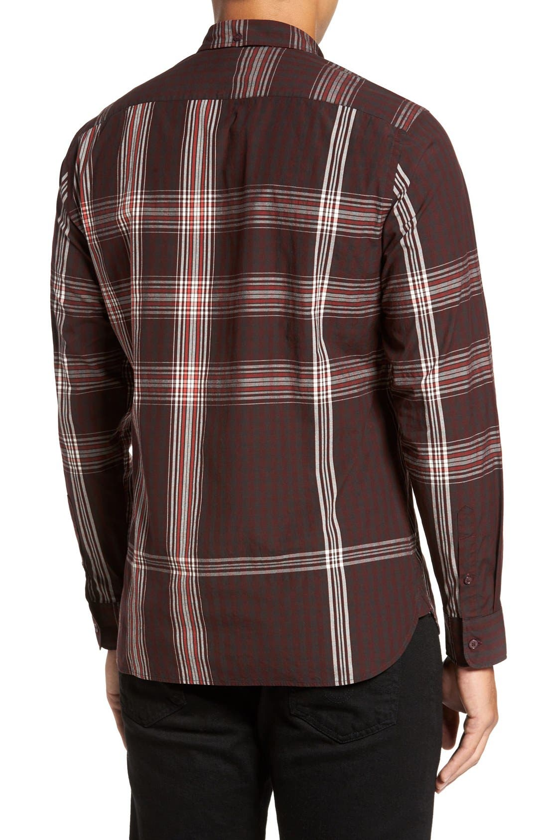 Alternate Image 2  - Burberry 'Brit' Trim Fit Long Sleeve Sport Shirt