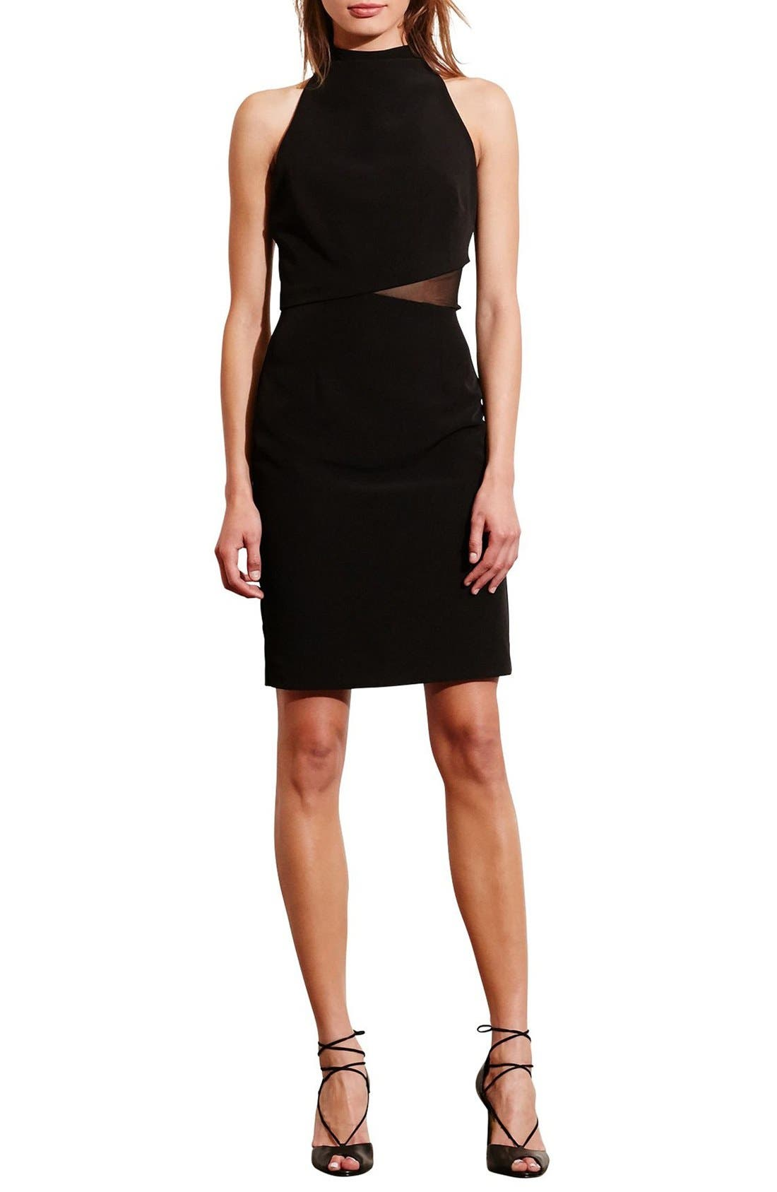 Alternate Image 3  - Lauren Ralph Lauren Asymmetrical Stretch Sheath Dress