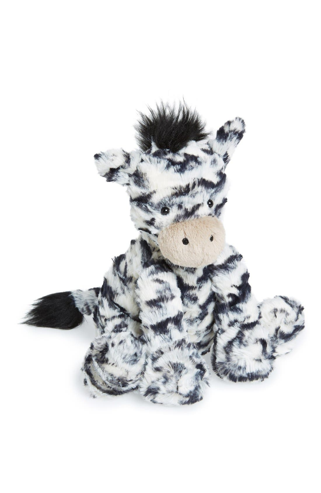'Fuddlewuddle Zebra' Stuffed Animal,                             Main thumbnail 1, color,                             Cream