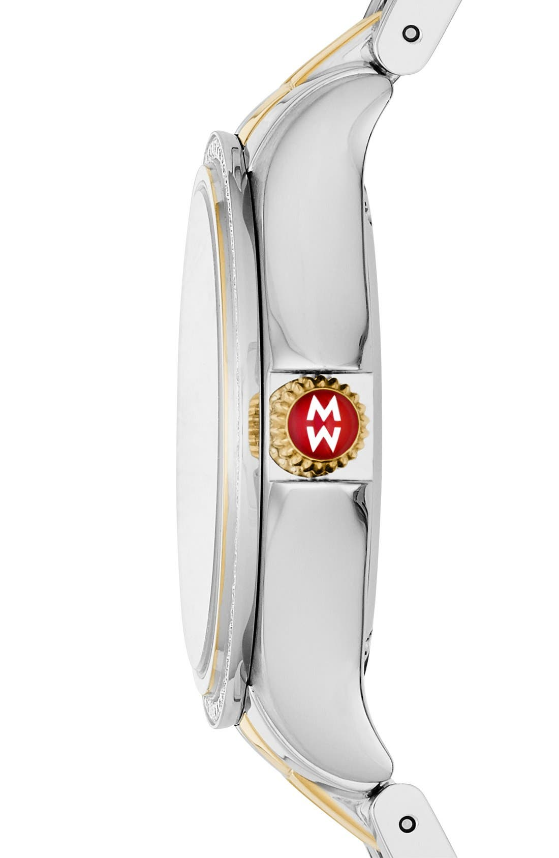 Belmore Watch Case, 34mm,                             Alternate thumbnail 3, color,                             Silver/ Gold