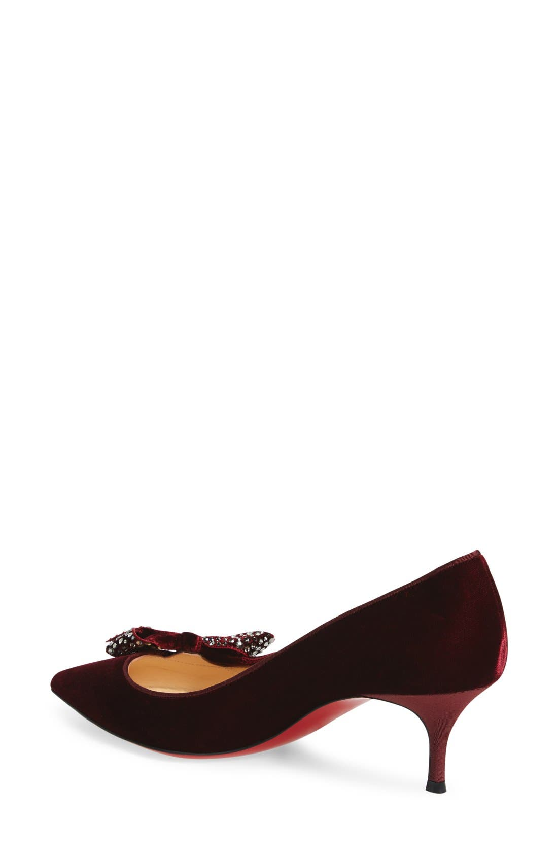 Alternate Image 2  - Christian Louboutin 'Mlle Menule' Embellished Bow Kitten Heel Pump