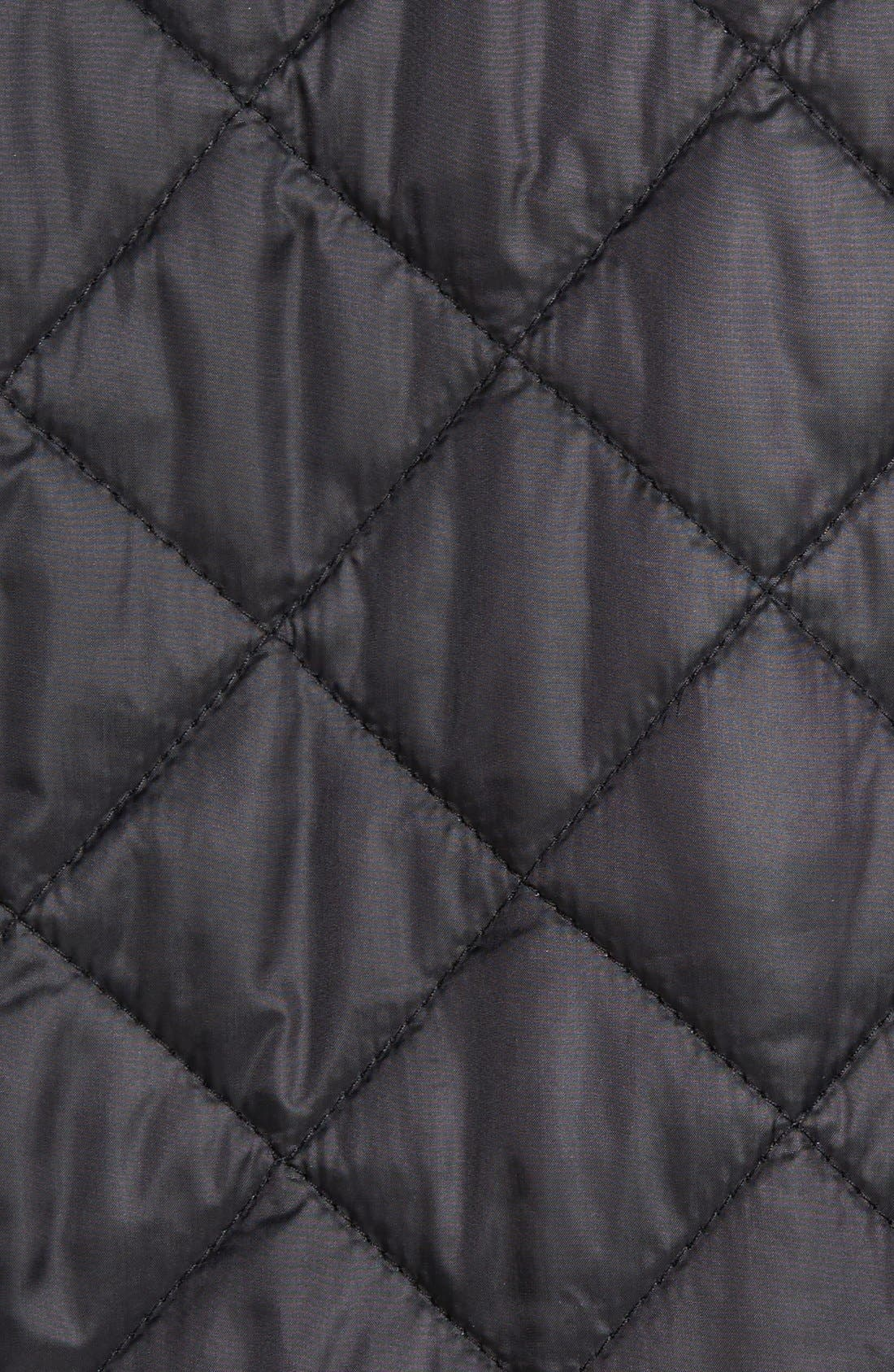 Diamond Quilted Jacket,                             Alternate thumbnail 7, color,                             Black