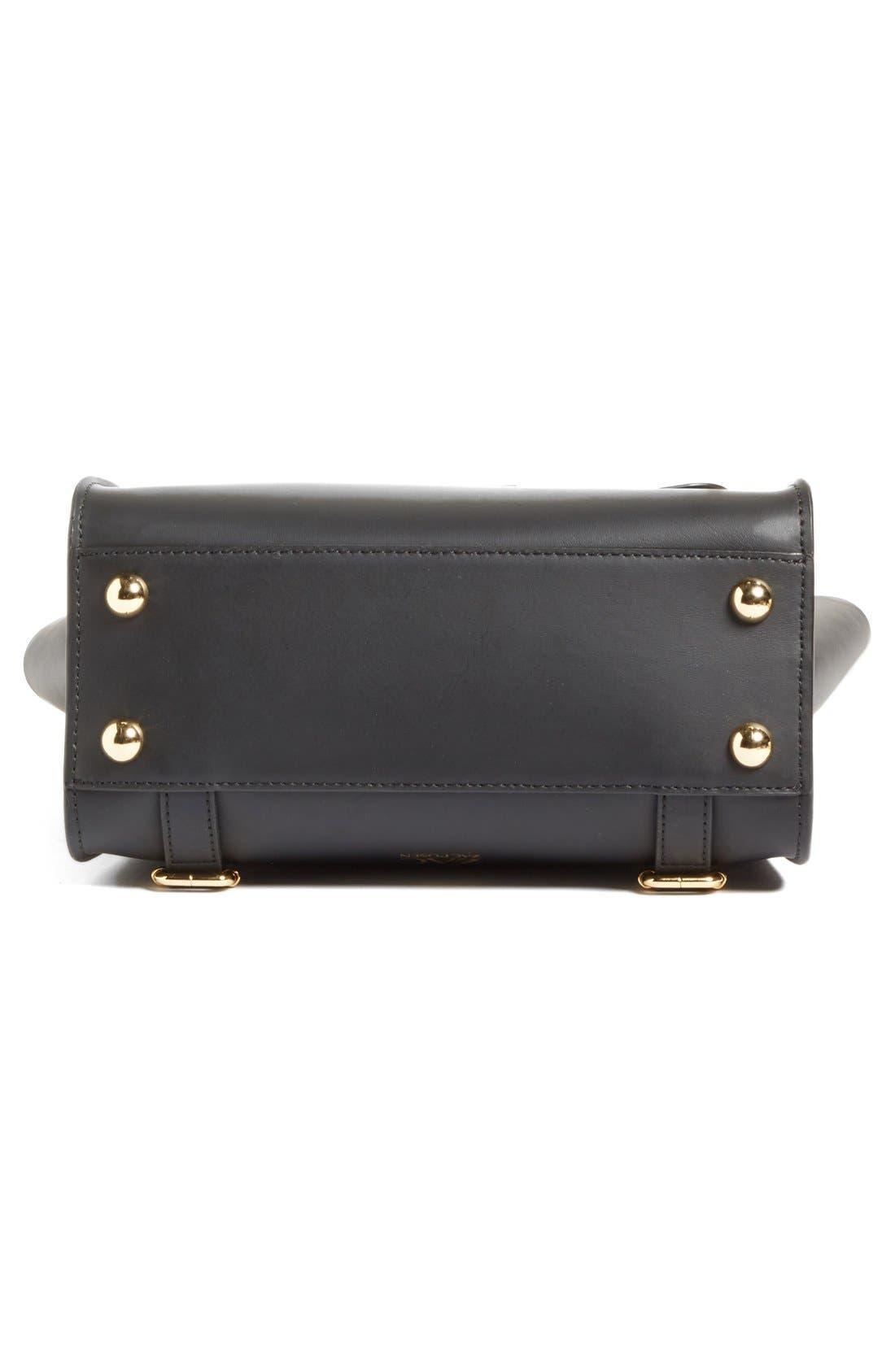 'Eartha Iconic' Leather Backpack,                             Alternate thumbnail 7, color,                             Black
